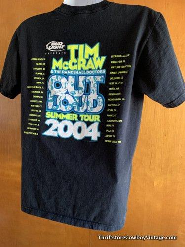 TIM MCGRAW CONCERT SHIRT 2004 Out Loud Tour Country Music MEDIUM 6