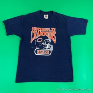 Vintage CHICAGO BEARS SUPER BOWL XX CHAMPIONS 1985 New England Patriots Logo 7 M