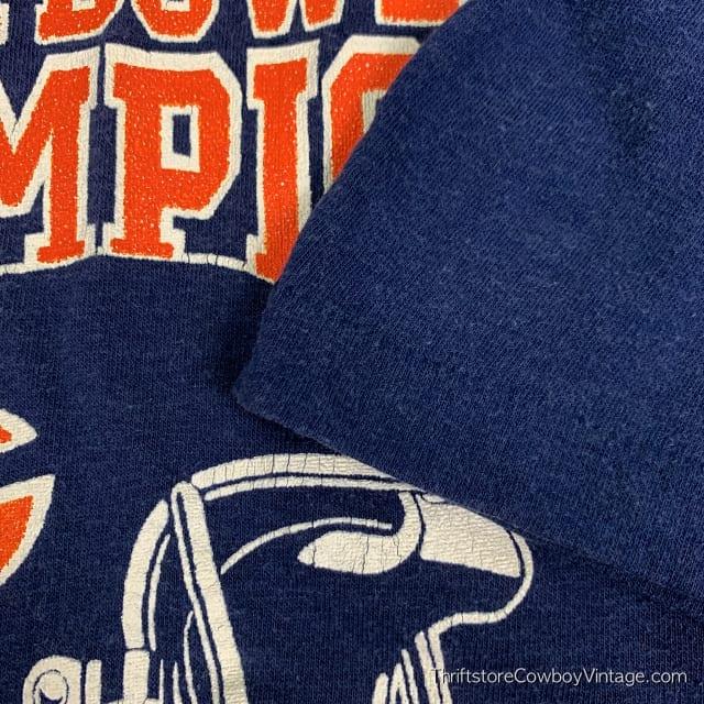 Vintage CHICAGO BEARS SUPER BOWL XX CHAMPIONS 1985 New England Patriots Logo 7 M 5