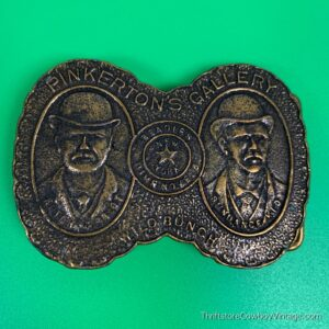 Vintage Butch Cassidy & Sundance Kid Belt Buckle 1970s 2