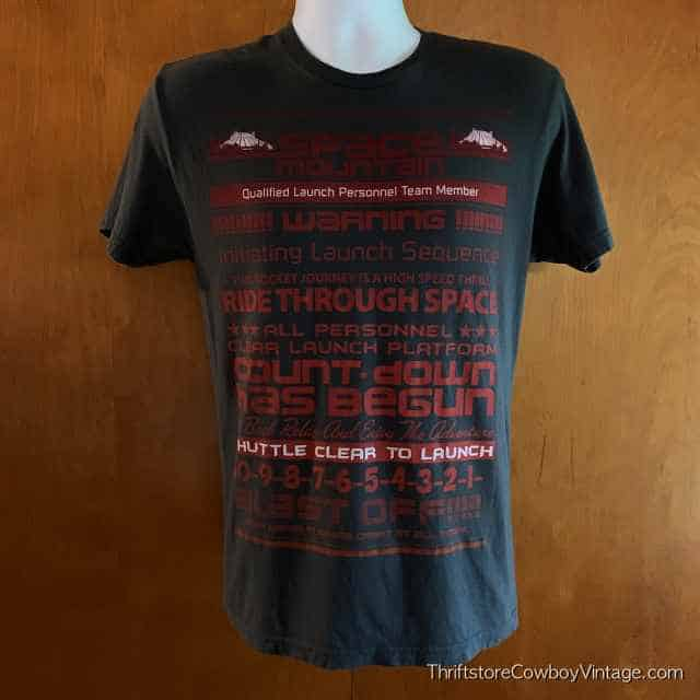 SPACE MOUNTAIN T-SHIRT Authentic Disney Parks SMALL 3