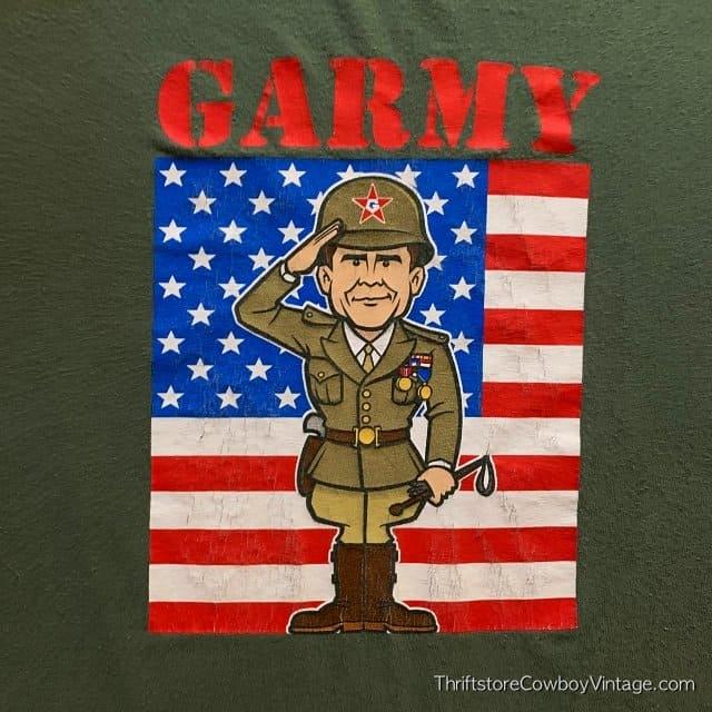 GARMY T-SHIRT George W Bush Military Service Controversy 2004 MEDIUM 3