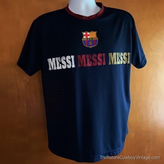 LIONEL MESSI SOCCER JERSEY FBC Futbol Club Barcelona LARGE 3