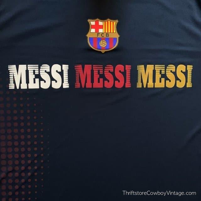 LIONEL MESSI SOCCER JERSEY FBC Futbol Club Barcelona LARGE 4