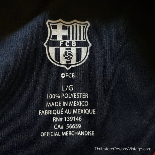 LIONEL MESSI SOCCER JERSEY FBC Futbol Club Barcelona LARGE 6