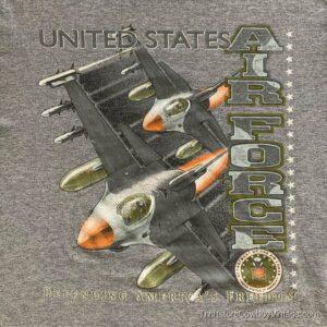 UNITED STATES AIR FORCE T-SHIRT 2000s MEDIUM