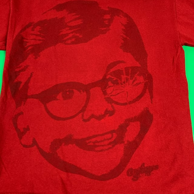 CHRISTMAS STORY MOVIE T-SHIRT Ralphie Glasses Red MEDIUM 4
