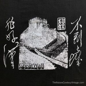 Vintage GREAT WALL OF CHINA T-SHIRT Beijing Vacation Tee 90s LARGE
