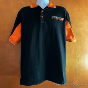 TONY STEWART POLO SHIRT Winner's Circle #20 Embroidered NASCAR MEDIUM
