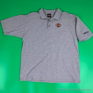 Vintage HARLEY DAVIDSON POLO SHIRT 90s Atlantic City NEW JERSEY XL