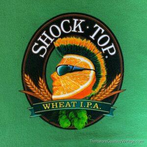 SHOCK TOP WHEAT IPA T-SHIRT Beer Brand MEDIUM