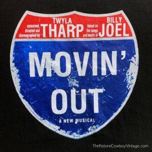 BILLY JOEL T-SHIRT Movin' Out Broadway Musical 2002 MEDIUM 3