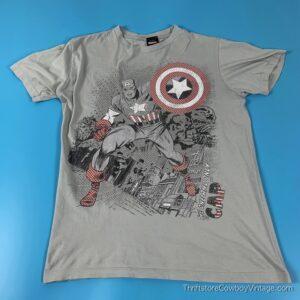 CAPTAIN AMERICA T-SHIRT Marvel Mad Engine 2000s MEDIUM