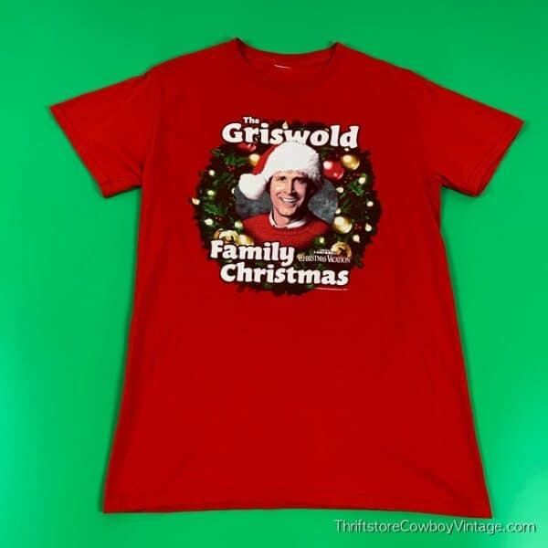 THE GRISWOLD FAMILY CHRISTMAS T-SHIRT Red NATIONAL LAMPOON'S CHRISTMAS VACATION SMALL