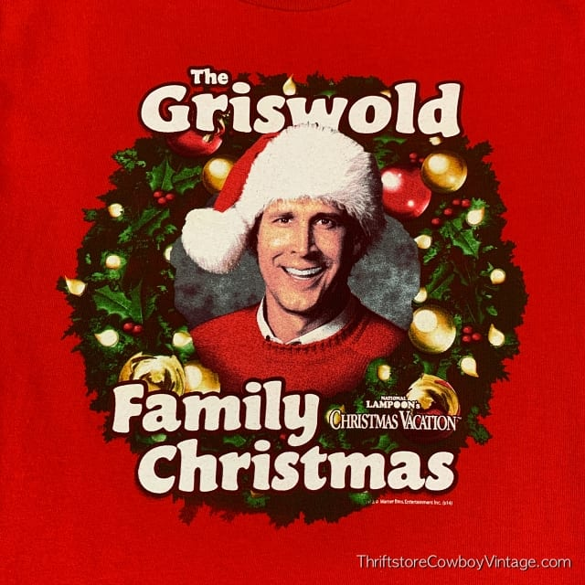 THE GRISWOLD FAMILY CHRISTMAS T-SHIRT Red  NATIONAL LAMPOON'S CHRISTMAS VACATION SMALL 3