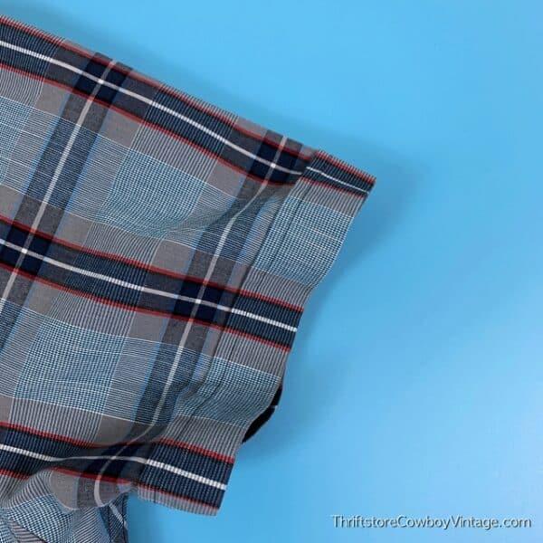 BRUNO BUTTON DOWN SHIRT Blue Plaid Pocket XL 5