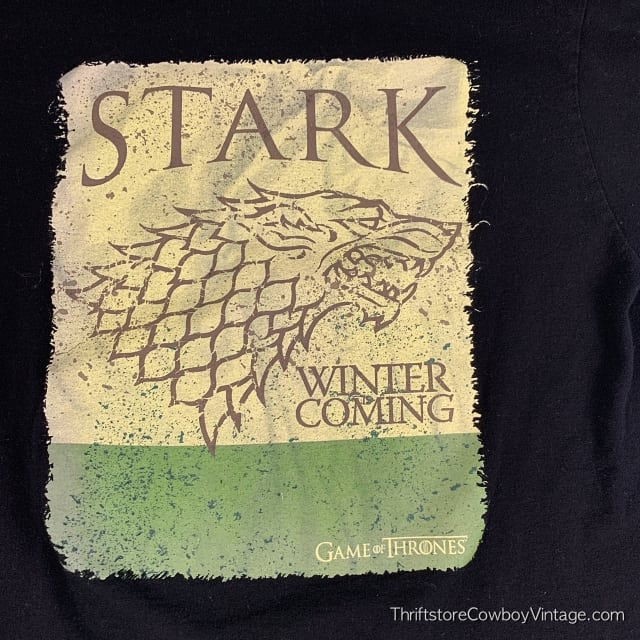 GAME OF THRONES T-SHIRT Stark Winter is Coming LARGE 4