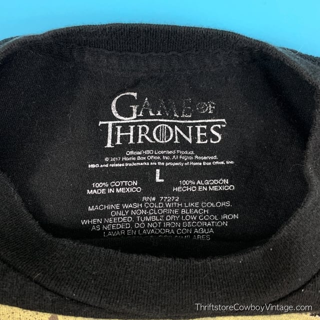 GAME OF THRONES T-SHIRT Stark Winter is Coming LARGE 5