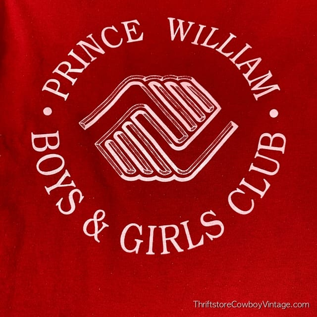 Vintage PRINCE WILLIAM BOYS & GIRLS CLUB 1980s Red SMALL/XS 3