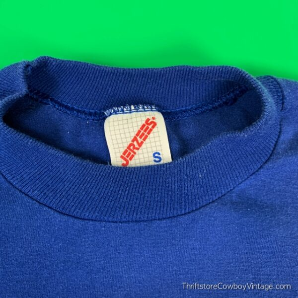 Vintage PRINCE WILLIAM BOYS & GIRLS CLUB T SHIRT 1980s Blue SMALL/XS 4