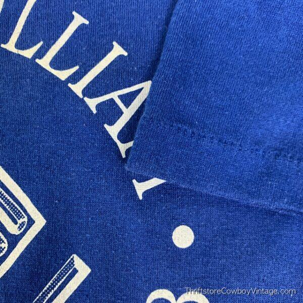 Vintage PRINCE WILLIAM BOYS & GIRLS CLUB T SHIRT 1980s Blue SMALL/XS 5