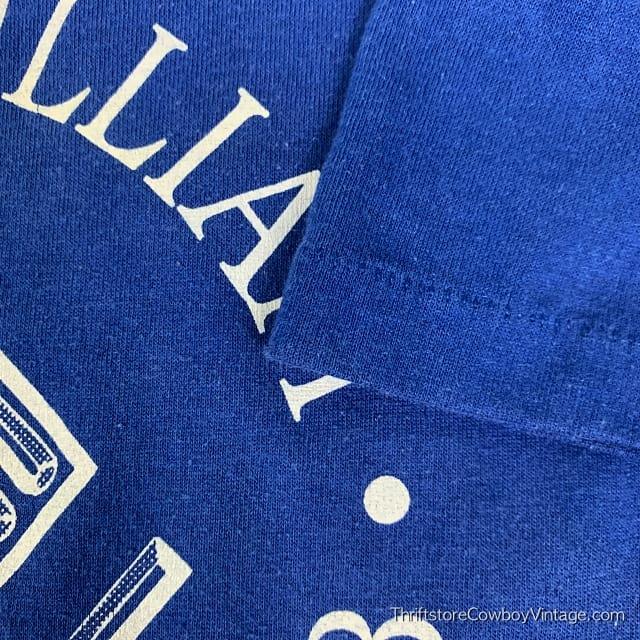 Vintage PRINCE WILLIAM BOYS & GIRLS CLUB T SHIRT 1980s Blue SMALL/XS 6