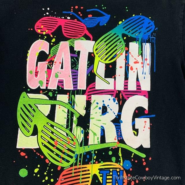 GATLINBURG SUNGLASSES T SHIRT Tennessee Vacation Retro 1990s SMALL 4