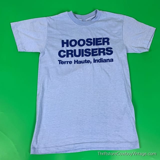Vintage HOOSIER CRUISERS T SHIRT Terre Haute INDIANA 1980s SMALL 3