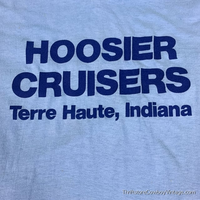 Vintage HOOSIER CRUISERS T SHIRT Terre Haute INDIANA 1980s SMALL 5