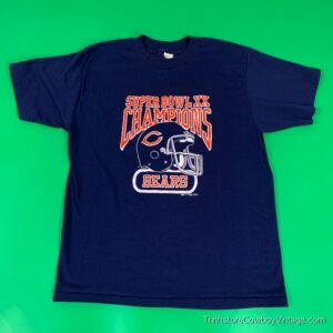 Vintage CHICAGO BEARS SUPER BOWL XX T SHIRT New England Patriots 1985 MEDIUM
