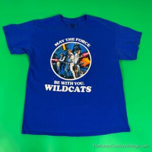 STAR WARS T-SHIRT May the Force Be With You Reprint WILDCATS LARGE