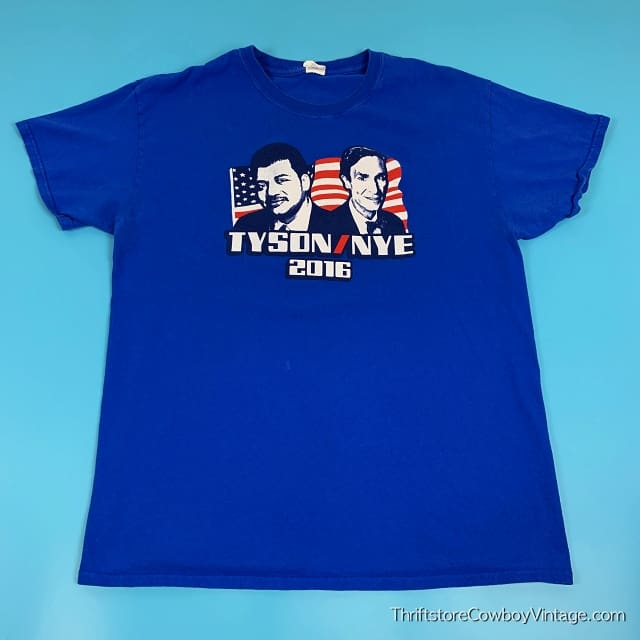TYSON / NYE 2016 T-SHIRT Presidential Campaign LARGE 3