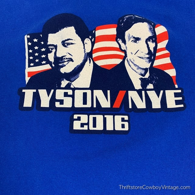 TYSON / NYE 2016 T-SHIRT Presidential Campaign LARGE 4