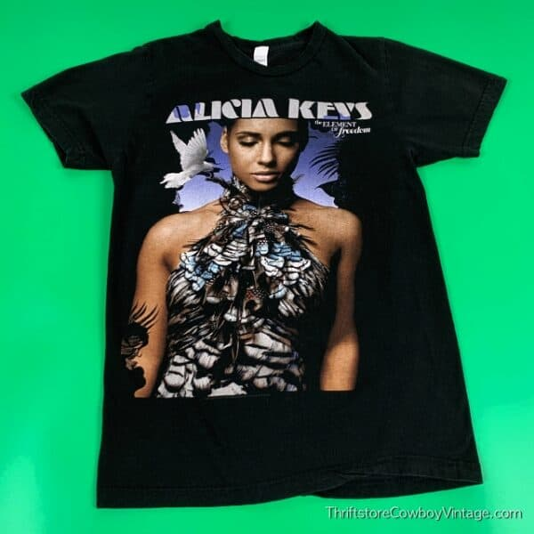 Women's ALICIA KEYS T-SHIRT 2010 Element Of Freedom SMALL 2