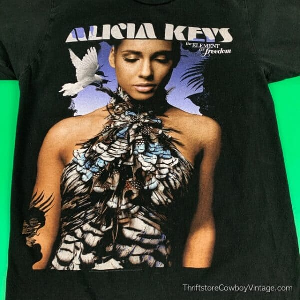 Women's ALICIA KEYS T-SHIRT 2010 Element Of Freedom SMALL 4