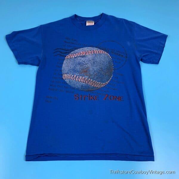 Vintage STRIKE ZONE BASEBALL T-SHIRT 80s MEDIUM 2