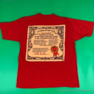 Vintage FATHER OF THE YEAR CERTIFICATE T-SHIRT 90s XL