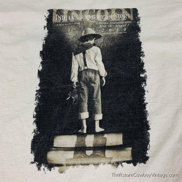 LINCOLN INDIANA'S AMERICAN STORY T-SHIRT 2009 Ken Jones Play LARGE 5