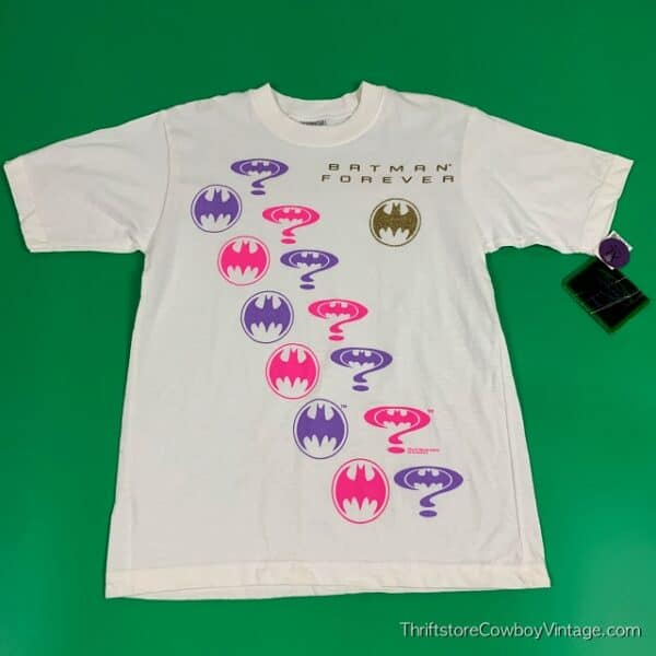 Deadstock 1994 BATMAN FOREVER T-SHIRT Youth 14/16 ADULT SMALL 2
