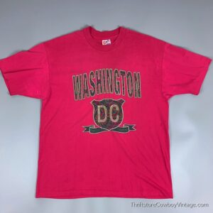Vintage WASHINGTON DC T-SHIRT 90s Nation's Capital Rose XL