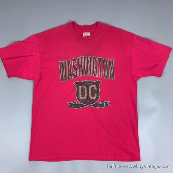 Vintage WASHINGTON DC T-SHIRT 90s Nation's Capital Rose XL 2