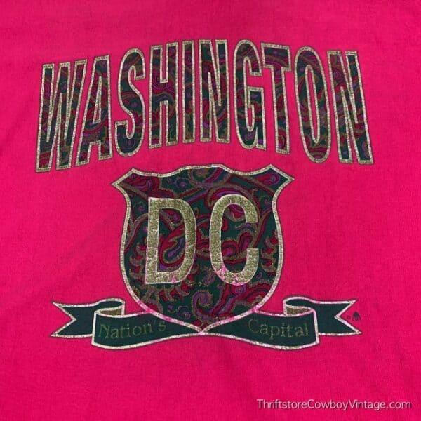 Vintage WASHINGTON DC T-SHIRT 90s Nation's Capital Rose XL 3