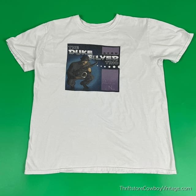 THE DUKE SILVER TRIO T-SHIRT Parks and Recreation LARGE 3