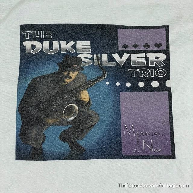 THE DUKE SILVER TRIO T-SHIRT Parks and Recreation LARGE 4