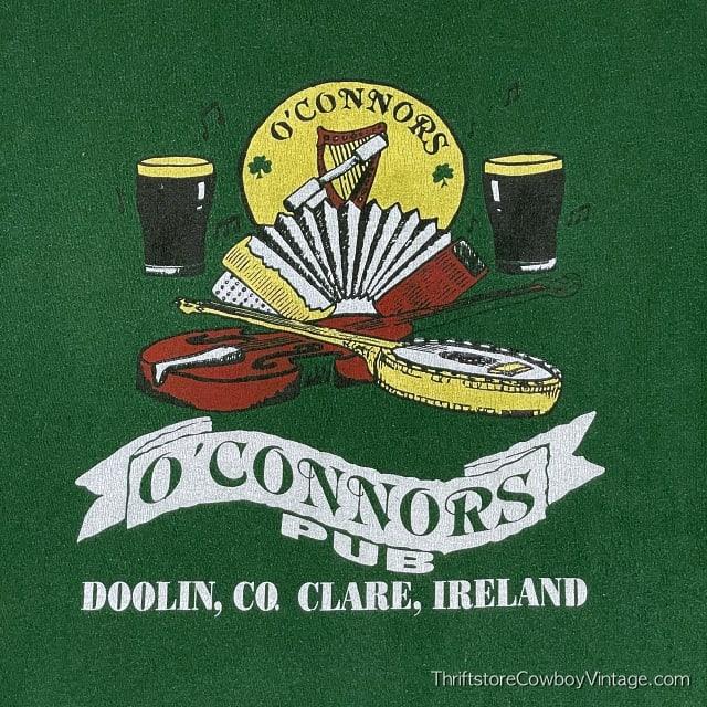 Vintage 90s O'CONNORS PUB T-Shirt Clare Ireland Authentic MEDIUM 7