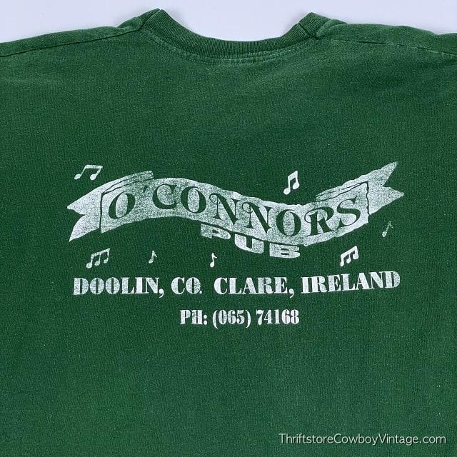 Vintage 90s O'CONNORS PUB T-Shirt Clare Ireland Authentic MEDIUM 8