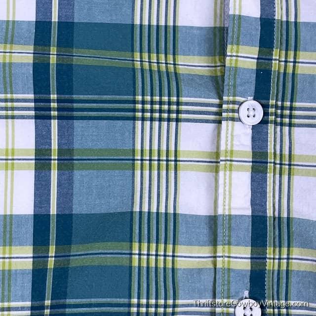 COLUMBIA SPORTSWEAR SHIRT Plaid Blue Green LARGE 5