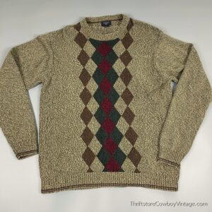 DOCKERS ARGYLE SWEATER Earth Tones 2XL