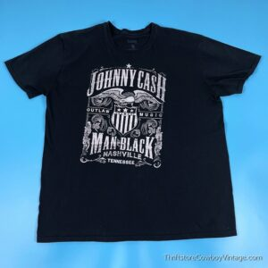 JOHNNY CASH T-SHIRT Outlaw Music 2XL