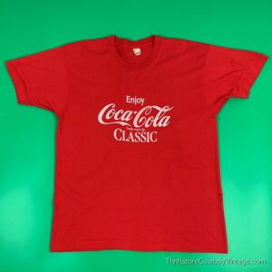 Vintage 80s ENJOY COCA-COLA T-SHIRT LARGE
